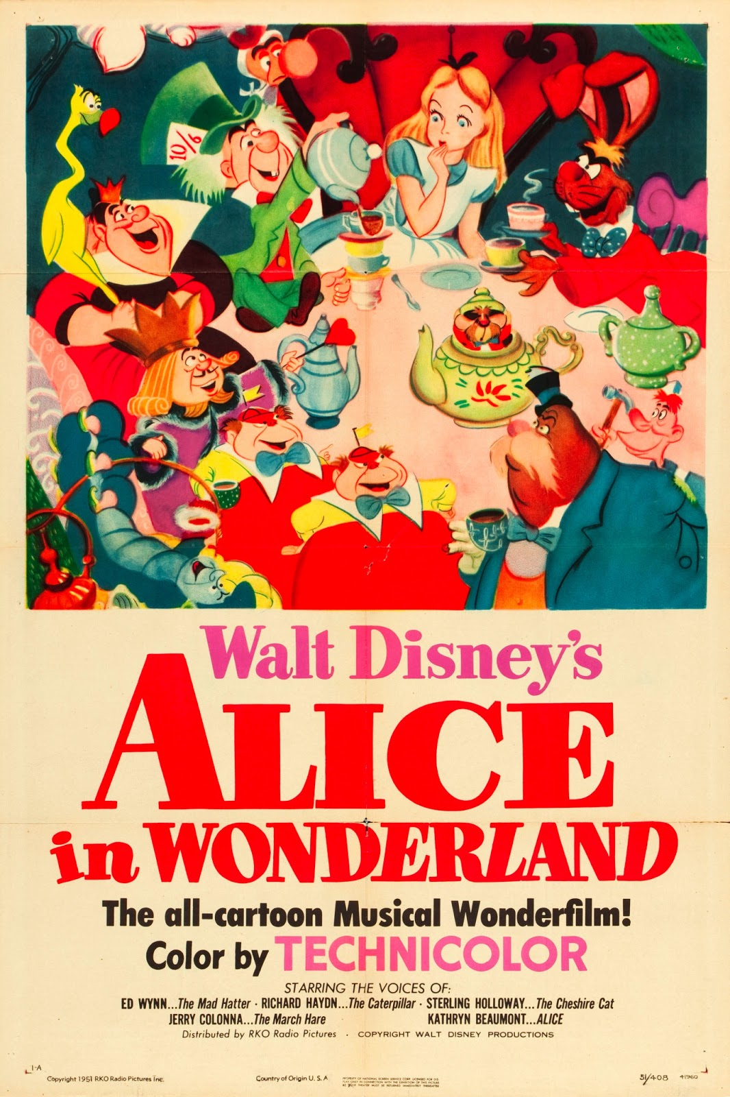 original walt disney alices wonderland