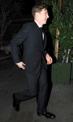 Benedict Cumberbatch exits AGO after the Oscars in LA