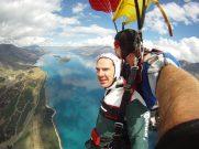 Benedict Cumberbatch Tandem Skydive, Queenstown, New Zealand - 16 Sep 2012